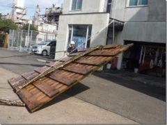 台風15号通過後のゴミ回収について。